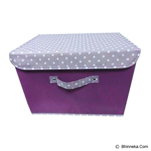 FUNIKA Non Woven Storage Bin with Lip Cover [NW13203] - Purple - Container